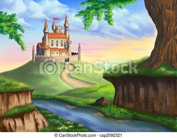 fantasie, kasteel - csp2092321