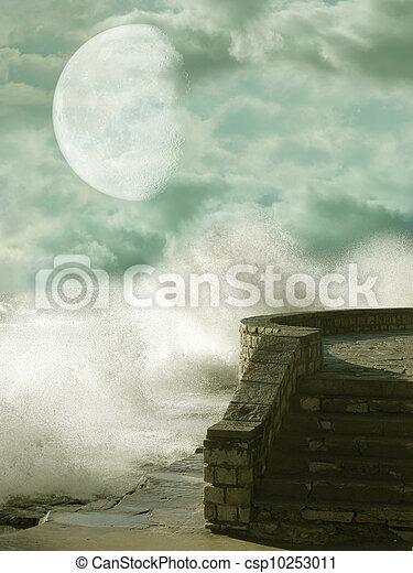 fantasie, landschaftsbild - csp10253011