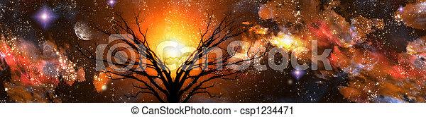 fantasie, landschaftsbild - csp1234471