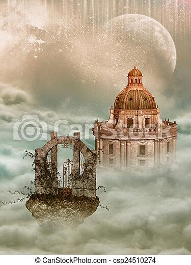 fantasie, landschaftsbild - csp24510274