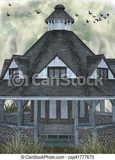 fantasie, landschaftsbild - csp41777673