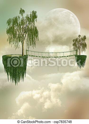 fantasie, landschaftsbild - csp7835748