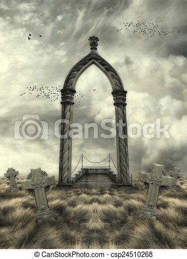 fantasie, landschaftsbild - csp24510268
