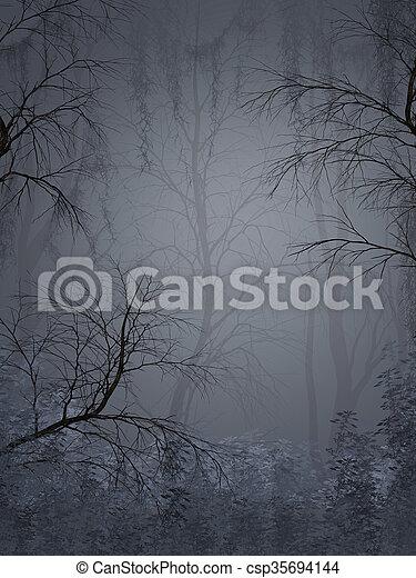 fantasie, landschaftsbild - csp35694144