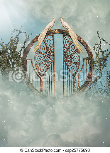 fantasie, landschaftsbild - csp25775693