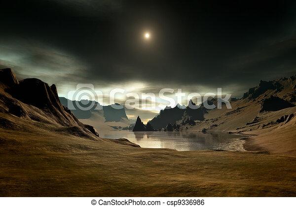 fantasie, landschaftsbild - csp9336986