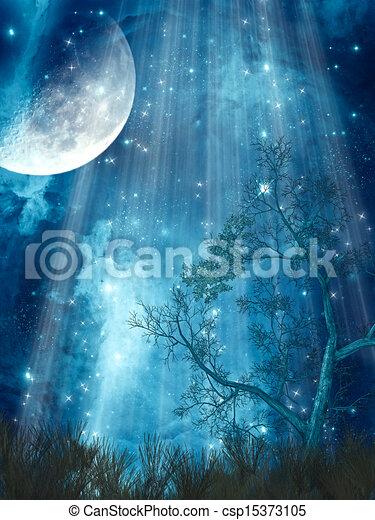 fantasie, landschaftsbild - csp15373105