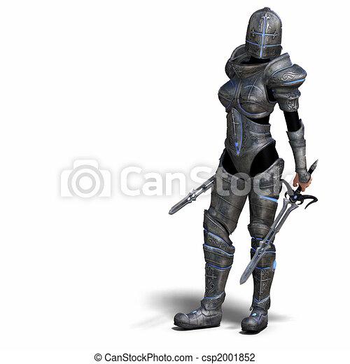 fantasie, vrouwlijk, ridder - csp2001852
