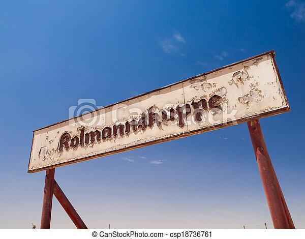 fantasma, kolmannskuppe, pueblo, señales - csp18736761