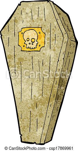 Espeluznante ataúd de dibujos animados - csp17869961