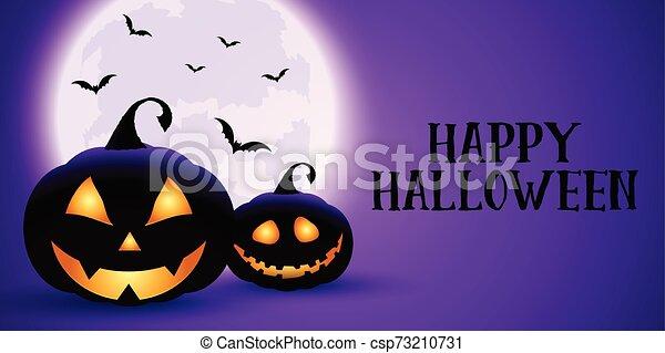 Espeluznante pancarta de Halloween - csp73210731
