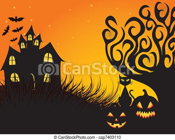 Spooky Halloween - csp7403110