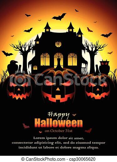 fantasmal, halloween, diseño - csp30065620