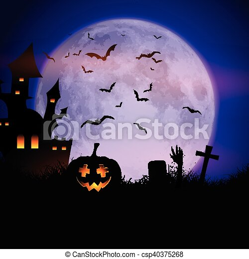 Antecedentes espeluznantes de Halloween - csp40375268