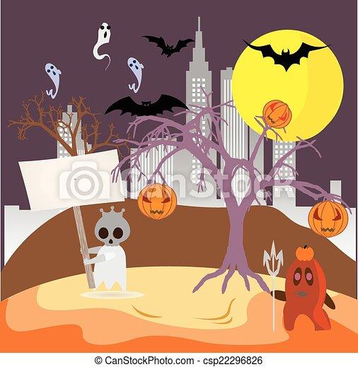 Antecedentes espeluznantes de Halloween - csp22296826