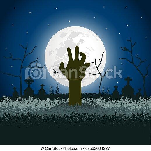 Antecedentes espeluznantes de Halloween - csp63604227