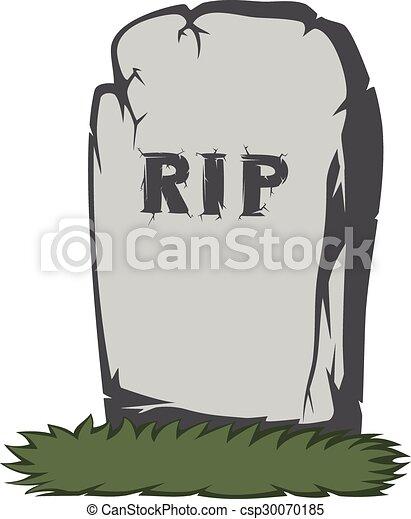 Espeluznante lápida - csp30070185