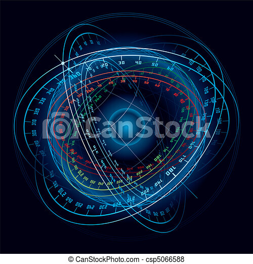 fantasme, sphere., navigation, espace - csp5066588