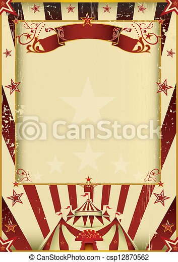 Fantastic Circus A New Background Vintage Textured On