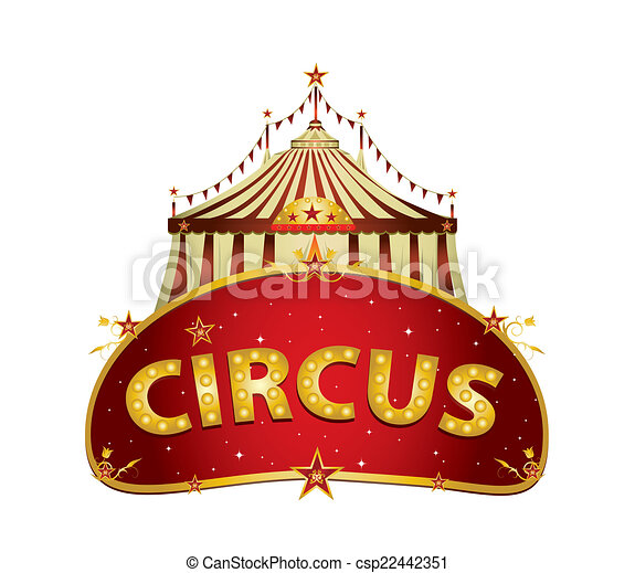 Fantastic Circus red sign - csp22442351