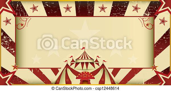 Fantastic grunge circus invitation - csp12448614