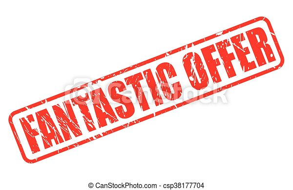 FANTASTIC OFFER RED STAMP TEXT - csp38177704