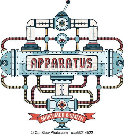 Fantastic steampunk apparatus - csp58214522