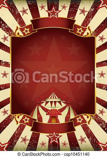fantastyczny, grunge, circus. - csp10451140