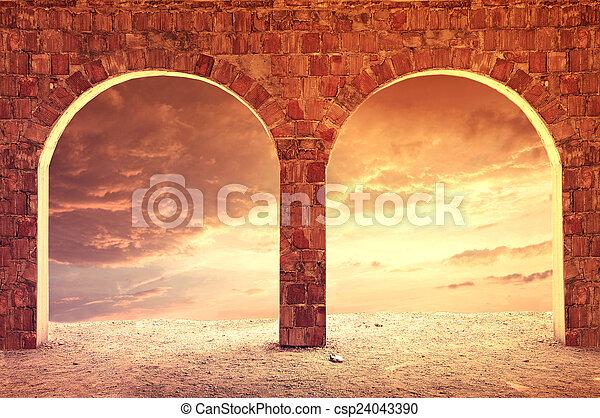 Fantasy background. - csp24043390
