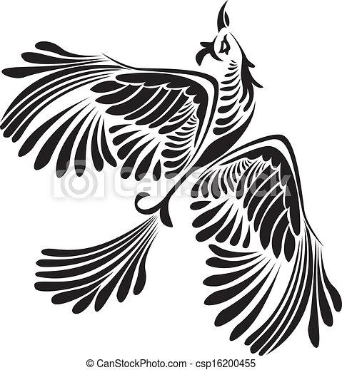 Fantasy bird stencil - csp16200455