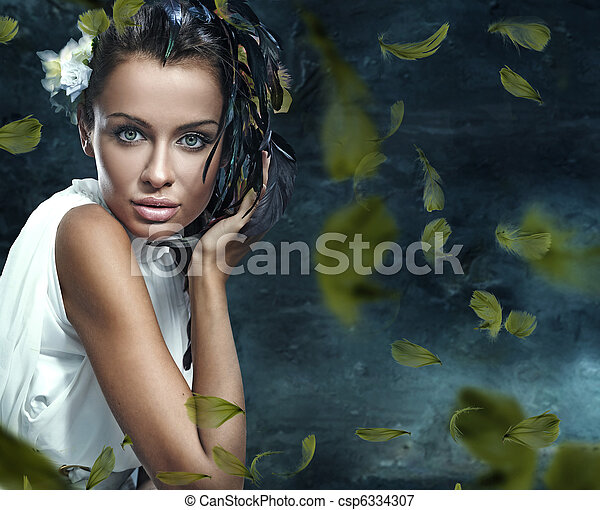 Fantasy glamor portrait of a young beauty - csp6334307