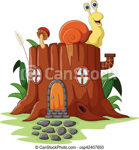 Fantasy house with snail - csp42407650