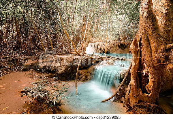 Fantasy jangle landscape with pond - csp31239095