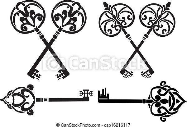 Fantasy key set stencil - csp16216117