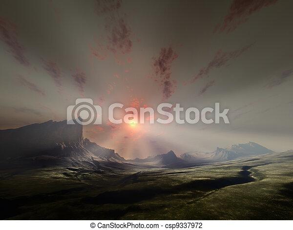 fantasy landscape - csp9337972