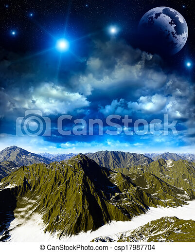 Fantasy landscape  - csp17987704