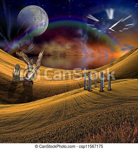 Fantasy Landscape - csp11567175