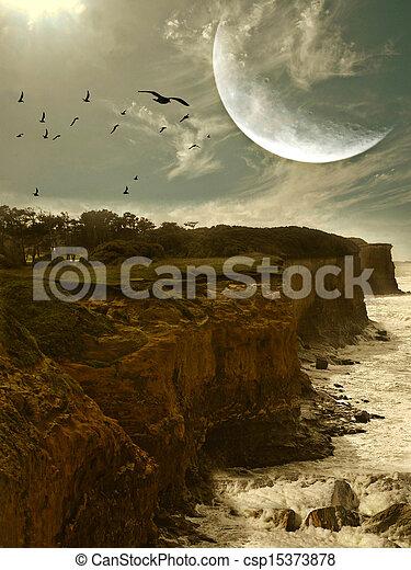 fantasy landscape - csp15373878