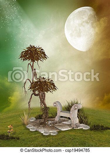 Fantasy Landscape - csp19494785
