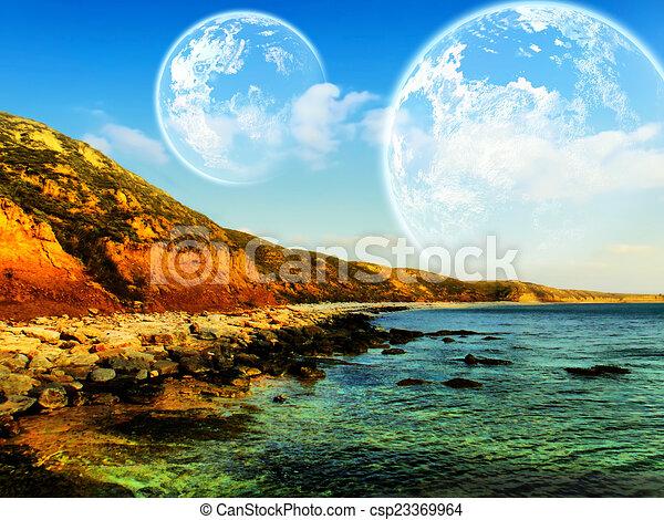 Fantasy landscape - csp23369964