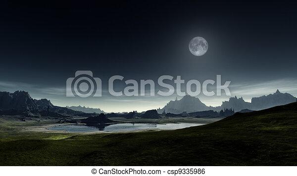 fantasy landscape - csp9335986
