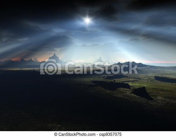 fantasy landscape - csp9357075