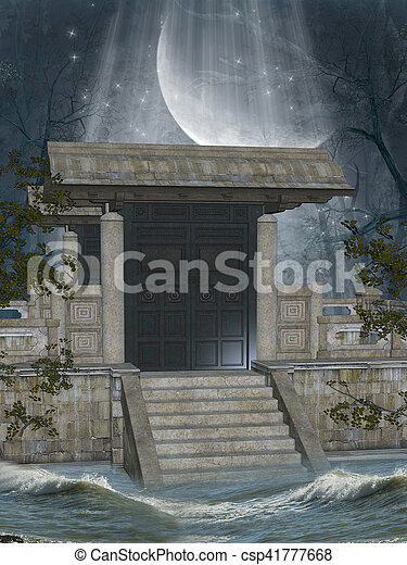 Fantasy Landscape - csp41777668