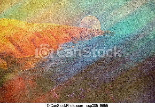 fantasy landscape  - csp30519655