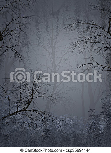 Fantasy landscape - csp35694144