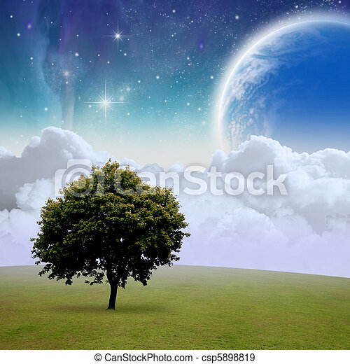Fantasy Landscape - csp5898819
