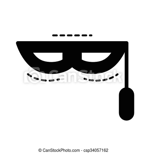 fantasy mask icon  black color - csp34057162