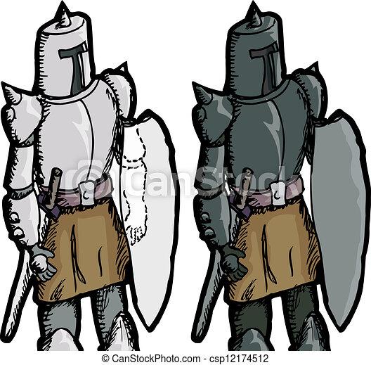 Fantasy Medieval Knight - csp12174512