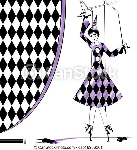 fantasy puppet Pierrette - csp16986261