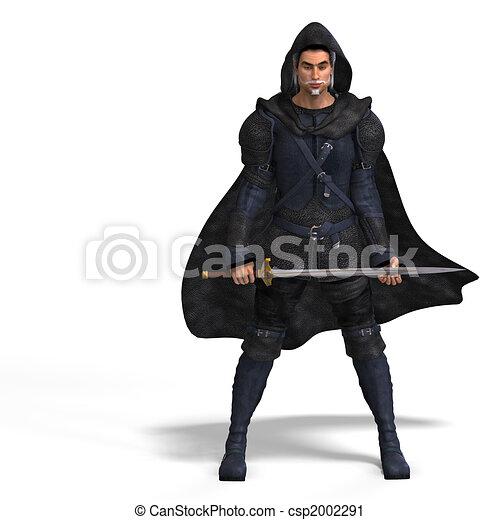 Fantasy Rogue with Sword - csp2002291